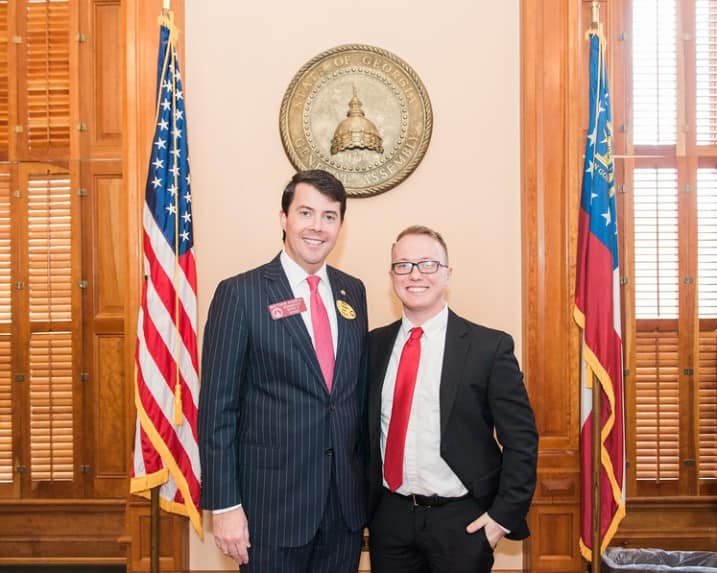 Photo of Zackery Brandenburg with Representative Matthew Gambill