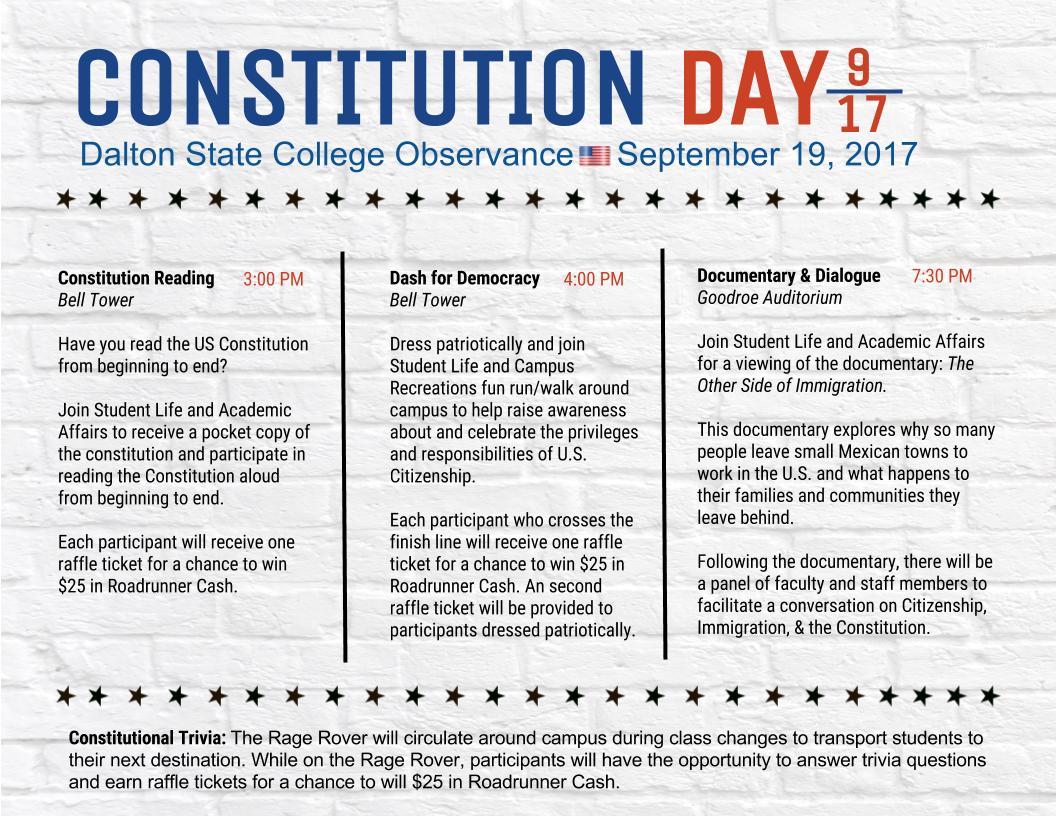 constitution day active citizenship dalton state college