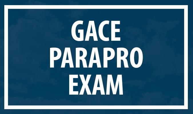gace paraprofessional exam - welcome to dalton state - dalton state ...