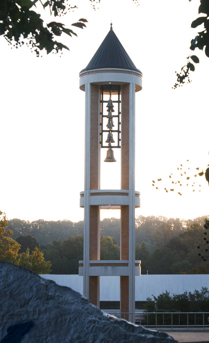 Picture of bell tower on quad