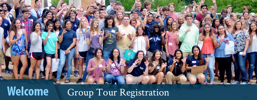 Welcome - Group Tour Registration
