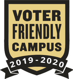2019 - 2020 Voter Friendly Campus Badge